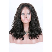 "Jayla-Double Drawn Hair Lace Front Wig Wet & Wavy Indian Remy Hair,220% High Density,4.5""Deep Part Space,Pre-Plucked Hairline"