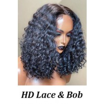 HD Lace curly bob
