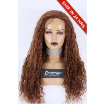 Full Lace Wig Natural Curl Brazilian Virgin Hair 30# 24 inches 200% Extra Thick Medium Size