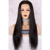 "Alyssa--Invisible HD Transparent Lace,Single Knots,6"" Lace Frontal Wig,100% Cuticles Aligned Virgin Hair,Silky Straight"