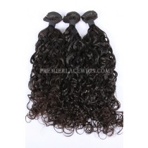 3 Bundles Deal Peruvian Virgin Hair Natural Color Loose Curl Hair Extension