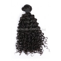 Natural Color Peruvian Virgin Hair Wefts Water Wave