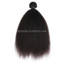 Peruvian Virgin Hair Weave Wefts Kinky Straight 1 Bundle