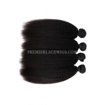 Peruvian Virgin Hair Weaves Natural Color Kinky Straight 4 Bundles Deal