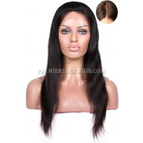 Indian Remy Hair Silky Straight Silk Top Glueless Lace Front Wigs