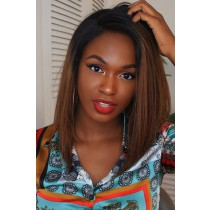 Kiitanaxo's Brown Ombre Bob Style Lace Front Wig