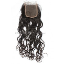 Peruvian Virgin Hair Lace Closure 4X4inches Loose Curl
