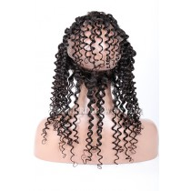Peruvian Virgin Hair 360°Circular Lace Frontal Candy Curl