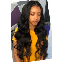 "Body Wave Hair Transparent Lace 13""x4"" Lace Frontal Wig"