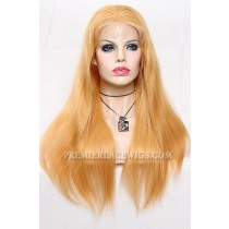 #27 Blonde Lace Front Wigs Natural Straight Chinese Virgin Hair