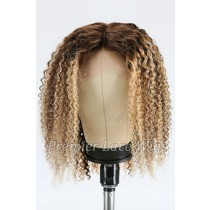 Ombre Curly Hair Bob Blonde Highlights