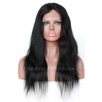Indian Remy Hair Middle Part Natural Straight Natural Looking Glueless Lace Part Lace Wigs