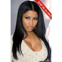 Brazilian Virgin Hair Light Yaki Glueless Lace Front Wigs
