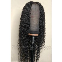 Affordable Lace Parting Wig Deep Wave Indian Remy Human Hair