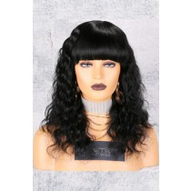 Deep Body Wave Full Bangs Non-Lace Wig