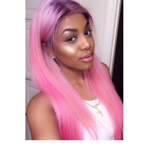 Colored Human Hair Full Lace Wigs Indian Remy Hair