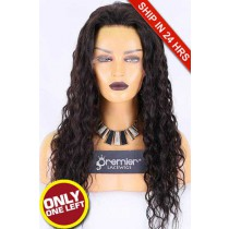 HD Transparent Lace Glueless Full Lace Wig,Brazilian Virgin Hair 22nches,Natural Color,Sexy Wavy,130% Density,Pre-plucked Hairline