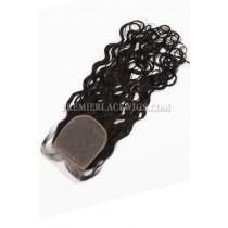 Peruvian Virgin Hair Silk Base Closure 4x4inches Loose Curl