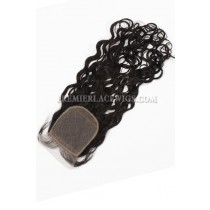 Indian Virgin Hair Silk Base Closure 4x4inches Loose Curl