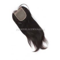 Indian Virgin Hair Silk Base Closure 4x4inches Silky Straight