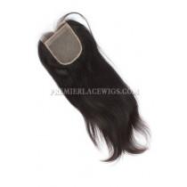 Indian Virgin Hair Silk Base Closure 4x4inches Silky Straight