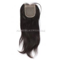 Brazilian Virgin Hair Silk Base Closure Silky Straight 4x4inches