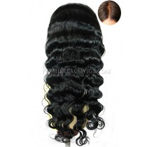 Silk Top Glueless Lace Front Wigs Indian Remy Hair Deep Body Wave