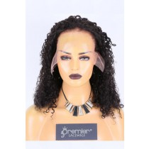 Clearance Sale Lace Front Wig Curly,Indian Remy Human Hair Natural Color 16inches 130% Medium Size