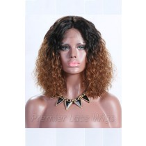 Brown Ombre Bob Textured Natural Curls