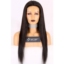 22 inches, natural black color, 130% normal density