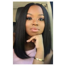 Blunt Cut Bob 360 Lace Wig,Indian Remy Hair,Pre-Plucked Hairline