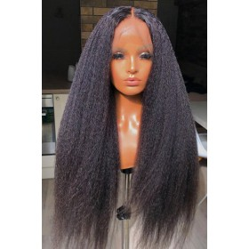 Affordable Lace Parting Wig Blowout Style Kinky Texture Indian Remy Human Hair