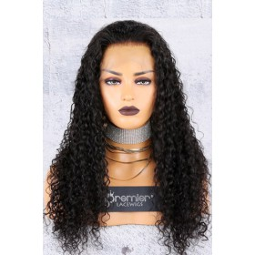Water Wave Indian Remy Hair 360° Lace Wigs,150% Thick Density ,Pre-Plucked Hairline
