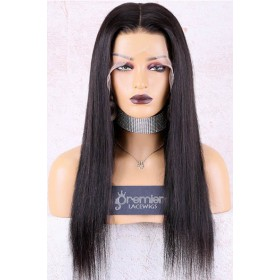 Naomi--Super Thin Transparent HD Lace, Silky Straight Indian Remy Human Hair Lace Wig, Pre-Plucked Hairline, Removable Elastic Band