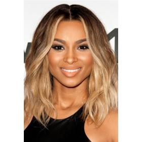 Ciara Bob Style Lace Front Wig,Virgin Hair Ombre Honey Blonde Color