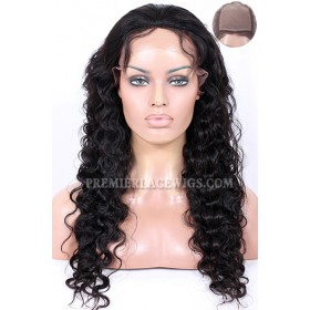 Silk Top Full Lace Wigs Deep Body Wave Indian Remy Hair