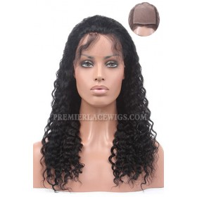 Silk Top Full Lace Wig Deep Wave Indian Remy Hair