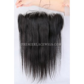 """Invisible Transparent HD Lace Frontal,13""""x4"""" Indian Remy Hair,Silky Straight"""