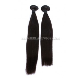 Peruvian Virgin Hair Weave ,Natural color ,Silky Straight ,2 Bundles Deal