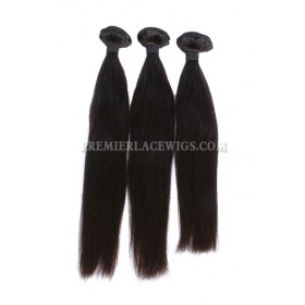 3 Bundles Deal Peruvian Virgin Hair Natural Color Silky Straight Hair Extension