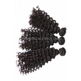 3 Bundles Deal Peruvian Virgin Hair Natural Color Deep Wave Hair Extension