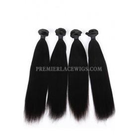 Indian Virgin Hair Weaves Yaki Straight 4 Bundles Deal