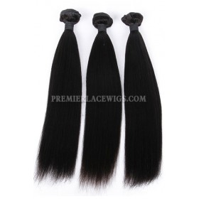 Indian Virgin Hair Weaves Yaki Straight 3 Bundles Deal