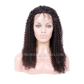 Silk Top Full Lace Wigs Kinky Curl Indian Remy Hair
