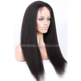 "Blowout Style Kinky Texture 13""x4"" Lace Frontal Wig Indian Remy Hair"