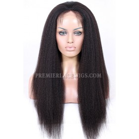 Blowout Kinky Texture Real Scalp Silk Top Lace Front Wig Indian Remy Hair