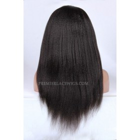 Indian Remy Hair Full Lace Wigs Kinky Straight