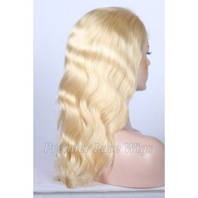 Blonde Color 613# Full Lace Wig Virgin Hair Body Wave