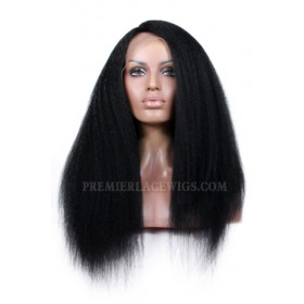 Kinky Straight Indian Remy Hair Affordable Side Part Lace Wigs {Production Time 7-10 working days}