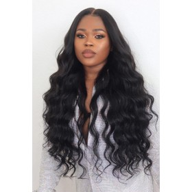 "Peakmill Style Gorgeous Wavy Hair 6"" Deep Part 360 Lace Wig,Pre-plucked Hairline,Removable Elastic Band"